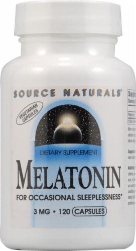 Source Naturals Melatonin Capsules 3 mg Perspective: front