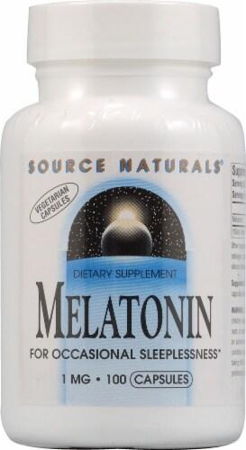 Source Naturals Melatonin Vegetarian Capsules 1 mg Perspective: front