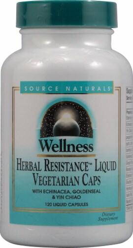 Source Naturals  Wellness Herbal Resistance™ Liquid Vegetarian Caps Perspective: front