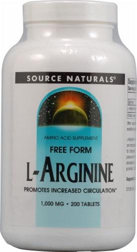Source Naturals Free Form L-Arginine Tablets 1000mg Perspective: front
