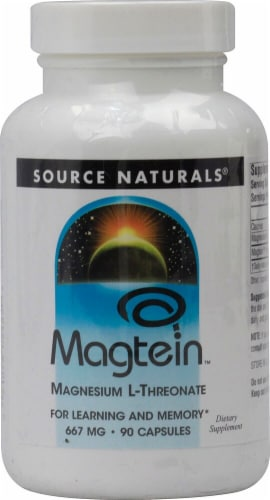 Source Naturals  Magtein™ Magnesium L-Threonate Perspective: front