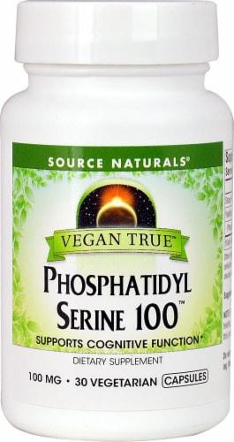 Source Naturals Vegan True Phosphatidyl Serine Capsules 100 mg Perspective: front