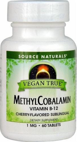Source Naturals  Vegan True™ MethylCobalamin Perspective: front