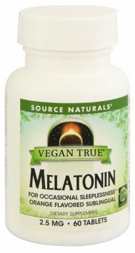 Source Naturals Vegan True Melatonin Tablets 2.5 mg Perspective: front