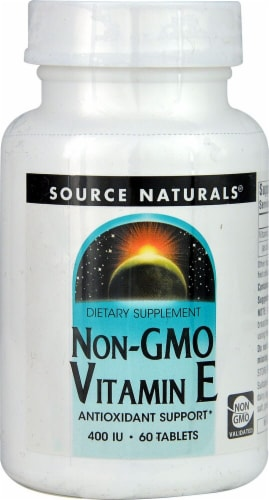 Source Naturals Non-GMO Vitamin E Tablets 400IU Perspective: front