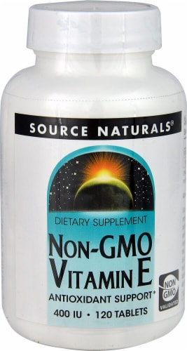 Source Naturals Non-GMO Vitamin E Tablets 400IU Perspective: front