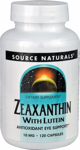 Source Naturals Zeaxanthin with Lutein Capsules 10mg 120 Count Perspective: front