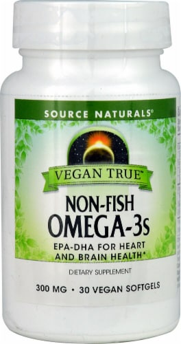 Source Naturals Vegan True Omega-3s Softgels 300 mg Perspective: front