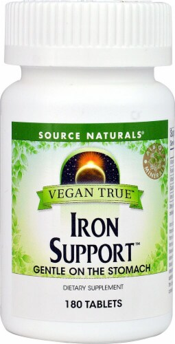 Source Naturals  Vegan True™ Iron Support™ Perspective: front