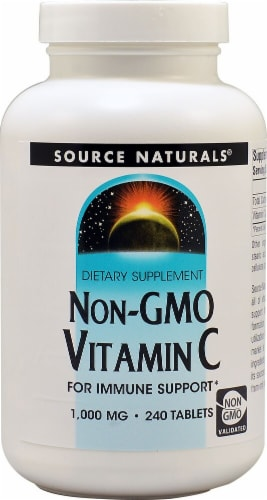 Source Naturals Non-GMO Vitamin C Tablets 1000mg Perspective: front