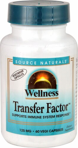 Source Naturals Wellness Transfer Factor Capsules 125 mg Perspective: front