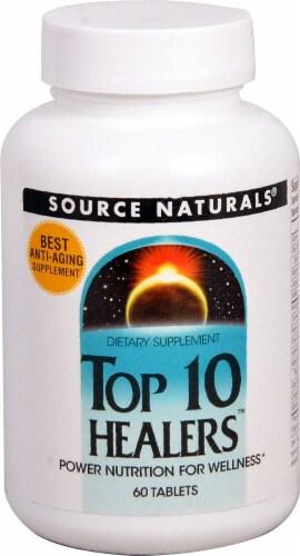 Source Naturals  Top 10 Healers™ Perspective: front