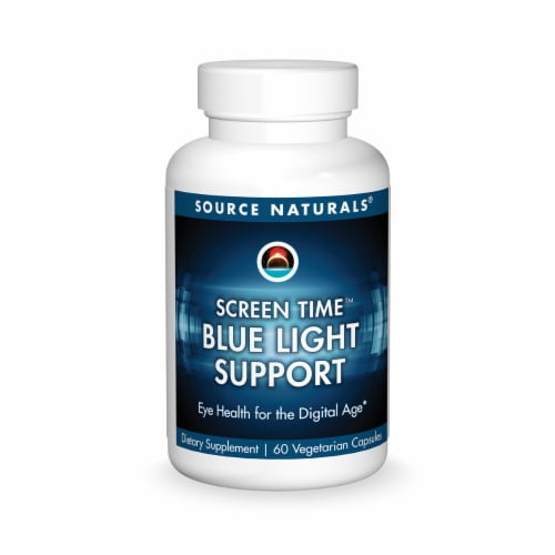 Source Naturals Screen Time Blue Light Support Eye Health Capsules Perspective: front