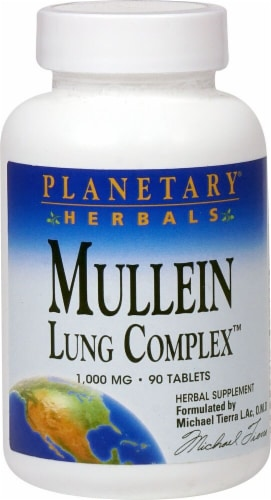 Planetary Herbals Mullein Lung Complex™ Tablets 850 mg Perspective: front