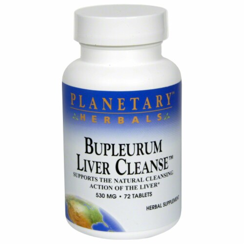 Planetary Herbals Burpleurum Liver Cleanse Tablets 530 mg Perspective: front