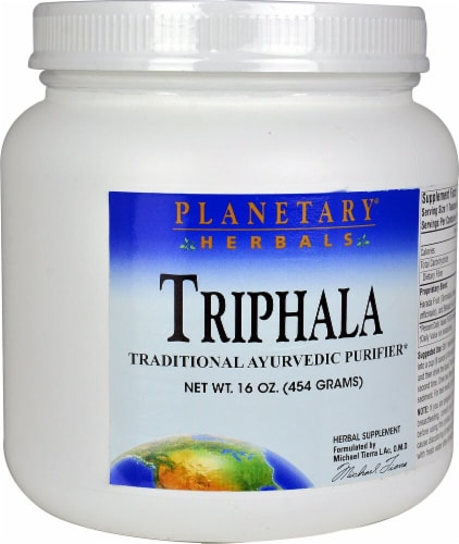 Planetary Herbals Triphala Herbal Supplement Perspective: front