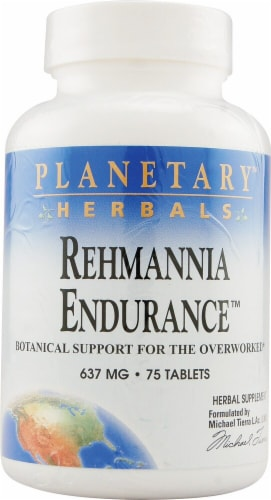 Planetary Herbals Rehmannia Endurance™ Tablets 637 mg Perspective: front