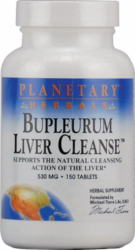 Planetary Herbals Bupleurum Liver Cleanse™ Tablets 530 mg Perspective: front