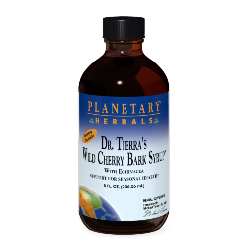 Planetary Herbals Old Indian Wild Cherry Bark Syrup Perspective: front