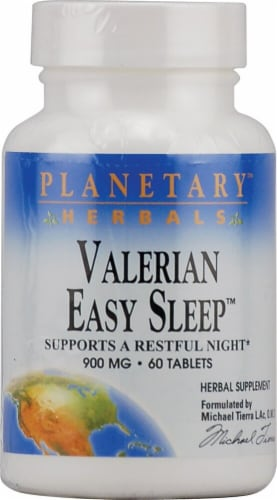 Planetary Herbals Valerian Easy Sleep™ Tablets 900 mg Perspective: front