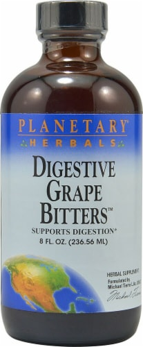Planetary Herbals Digestive Grape Bitters™ Herbal Supplement Perspective: front