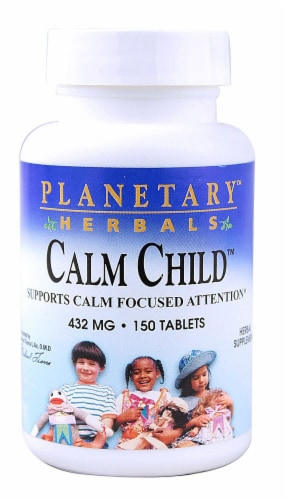 Planetary Herbals Calm Child Tablets 432mg Perspective: front