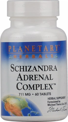 Planetary Herbals Schizandra Adrenal Complex Tablets 711 mg Perspective: front