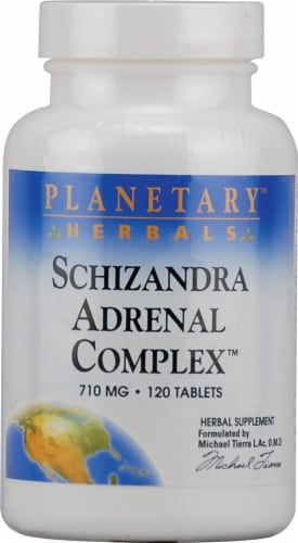 Planetary Herbals Schizandra Adrenal Complex Tablets 710 mg Perspective: front