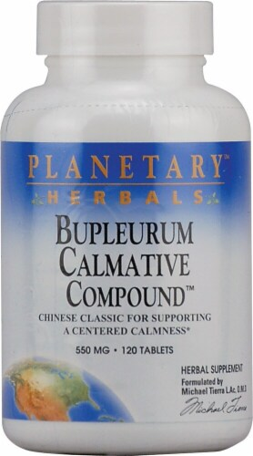 Planetary Herbals Bupleurum Calmative Compound™ Tablets 550 mg Perspective: front