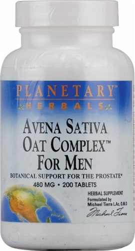 Planetary Herbals Avena Sativa Oat Complex for Men Tablets 480 mg Perspective: front