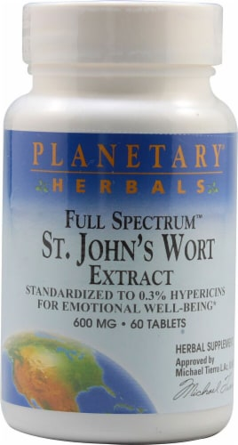 Planetary Herbals Full Spectrum™ St Johns Wort Extract Tablets 600 mg Perspective: front