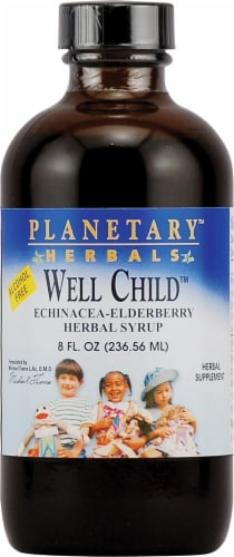Planetary Herbals Well Child Echinacea-Elderberry Herbal Syrup Perspective: front