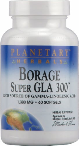 Planetary Herbals Borage Super GLA 300™ Softgels 1300 mg Perspective: front