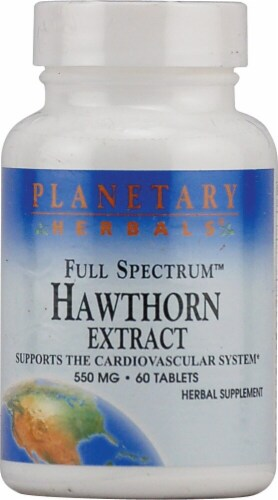 Planetary Herbals Hawthorn Extract Tablets 550 mg Perspective: front