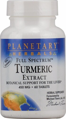 Planetary Herbals  Full Spectrum Turmeric Extract Tablets 450 mg Perspective: front