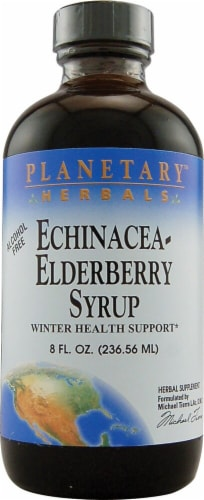 Planetary Herbals Echinacea Elderberry Syrup Perspective: front