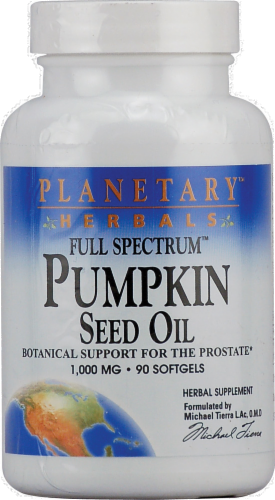 Planetary Herbals Pumpkin Seed Oil Softgels 1000 mg Perspective: front