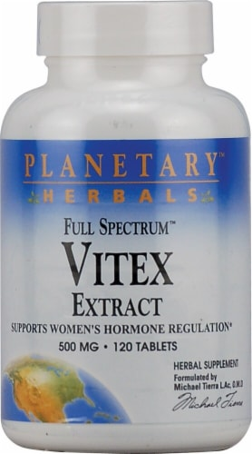 Planetary Herbals Full Spectrum™ Vitex Extract Tablets 500 mg Perspective: front