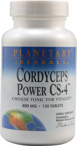 Planetary Herbals Cordyceps Power CS-4™ Tablets 800 mg Perspective: front