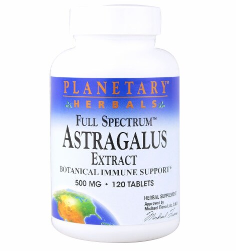 Planetary Herbals Full Spectrum™ Astragalus Extract Tablets 500 mg Perspective: front