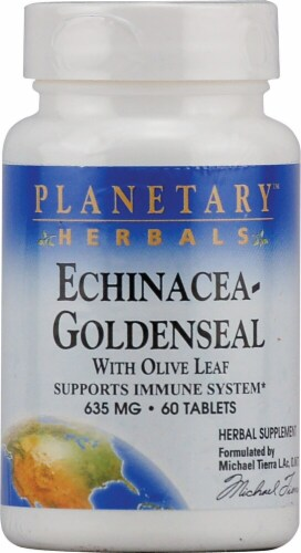Planetary Herbals Echinacea Goldenseal with Olive Leaf Tablets 635 mg Perspective: front