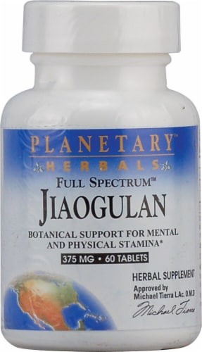 Planetary Herbals Full Spectrum™ Jiaogulan Tablets 375 mg Perspective: front