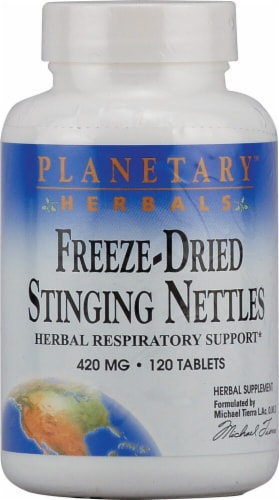 Planetary Herbals Freeze-Dried Stinging Nettles Tablets 420 mg Perspective: front