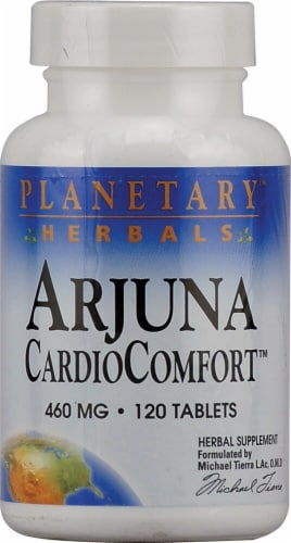 Planetary Herbals Arjuna Cardio Comfort Tablets 460mg Perspective: front