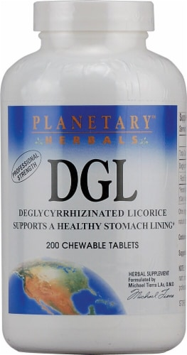 Planetary Herbals DGL Chewable Tablets Perspective: front