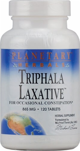 Planetary Herbals Triphala Laxative™ Tablets 865 mg Perspective: front