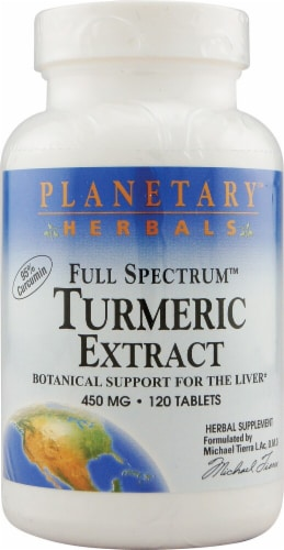 Planetary Herbals Full Spectrum™ Turmeric Extract Tablets 450 mg Perspective: front