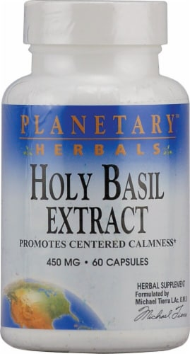 Planetary Herbals Holy Basil Extract Capsules 450 mg Perspective: front