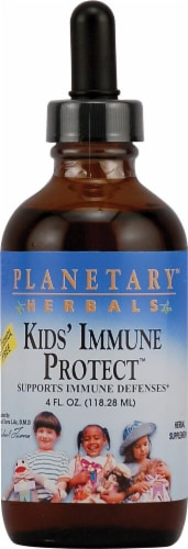 Planetary Herbals Kid's Immune Protect Liquid Perspective: front