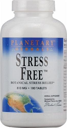 Planetary Herbals Stress Free™ Tablets 810 mg Perspective: front